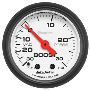 Autometer 5703 Phantom Mechanical Boost vacuum Gauge
