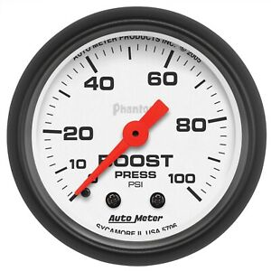 Autometer 5706 Phantom Mechanical Boost Gauge