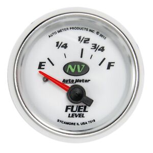 Autometer 7318 Nv Electric Fuel Level Gauge