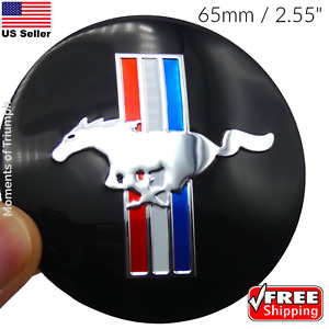 4 Pack Ford Mustang Wheel Center Hub Cap Sticker Decal Dome Shape 65mm 2 55