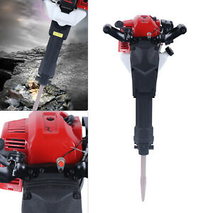 52cc 1900w Gas Powered Demolition Jack Hammer Concrete Breaker Drill W Chisels