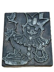 Printing Plate Block Vintage Wood Block Lead Interesting Character