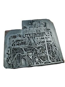 Printing Plate Block Vintage Wood Block Lead Interesting Design
