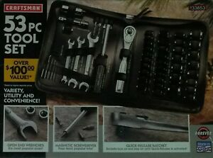 New Craftsman 53 Piece Tool Set 33853 Soft sided Zippered Case Forever Warranty