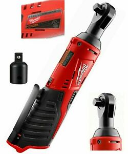 New Milwaukee 2457 20 M12 Cordless 3 8 Ratchet Tool Free 1 4 In Adapter