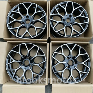 16x5 5 17x7 5 Staggered B Style Black Wheels Rims Fits For Smart Fortwo 3x112
