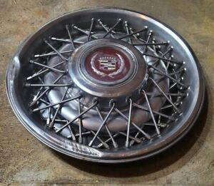 1 1986 1992 Cadillac Brougham 15 Wire Spoke Hubcap Wheel Cover 0d 10201267
