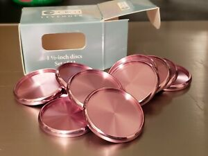 Set Of 11 Pink Aluminum 1 1 2inch Circa Discs From Levenger