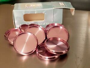 Set Of 11 Pink Aluminum 1 Inch Circa Discs From Levenger