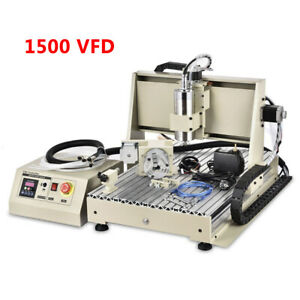 Usb 1500w 4axis Cnc Router 6040 Engraver Machine Mill Woodworking 3d Carving Kit