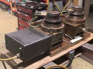 Troyke M 230 Nc Twin Rotary Tables W Servo Motor 5c Collet Nose Used