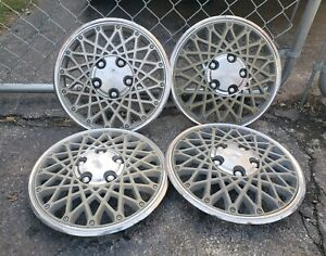 Set Of 4 Oem 1982 87 Chevy Cavalier Chevette 13 Hubcaps Wheel Covers 14032475
