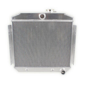 3 Row Radiator For 1955 1957 Chevy Bel Air 150 210 3 8l 235ci L6 Engine Cooling