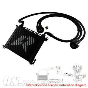 Universal An10 15 Row Engine Oil Cooler Oil Lines Adapter Kit 7 Electric Fan