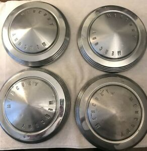 1962 65 Mercury Dog Dish Poverty Hubcap Wheel Cover Lot Of 4 is 935