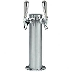 Micro Matic D4743dt Stainless Steel 2 Tap Tower 3 Column Draft Beer Tap New