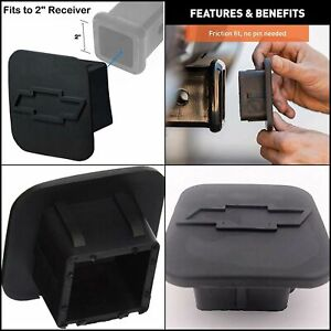 Fits For 2 Inches Chevrolet Chevy Trailer Hitch Cover Sturdy Rubber Receiver Us