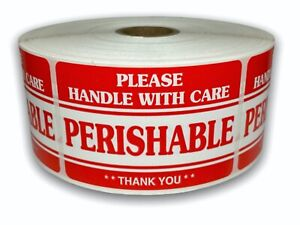 Perishable Handle With Care Shipping Fragile Stickers 3 x5 500 Labels