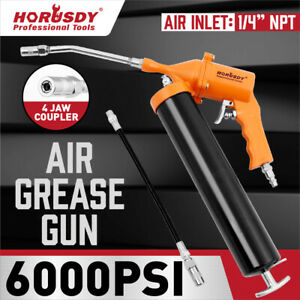 Air Pneumatic Grease Gun 1 4 Npt 11 Flexible Hose Extension 2400 6000 Psi
