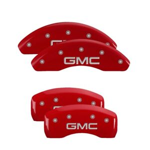 Mgp 4 Caliper Covers Red For 2018 2020 Gmc Terrain 34215sgmcrd