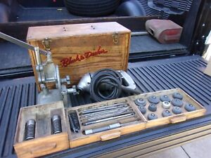 Black Decker Valve Seat Grinder Set With Tongue And Groved Wood Box