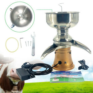 Electric Milk Cream Separator Centrifugal Skimmer Up To 50 L h Stainless Steel