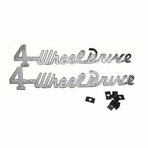 Willys Pickup And Station Wagon Four Wheel Drive Emblem Kit