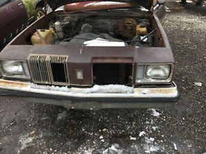 1979 Oldsmobile Cutlass Supreme Header Panel Assembly 1979 Only