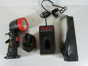 Vtg Snap On 12v Cordless Lights With Charger Battery Tested B5