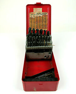 Snap On Tools Drill Bit Set Mechanics S Length Db29a Case Mostly Complete 3 8