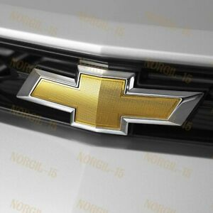 For 2014 2018 Chevy Chevrolet Impala Front Grill Grille Bowtie Emblem Gold