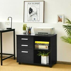 3 drawer Mobile Lateral File Cabinet Printer Stand