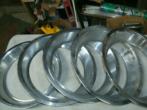 Trim Ring Wheel Hubcap 14 1970 S 1980 S Chevy Ford Dodge Set Of 5 2 1 4 Deep T