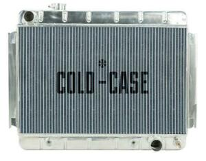 Radiator Performance Alum Polished Downflow 2 Row Transmission Cooler Chevy Eac