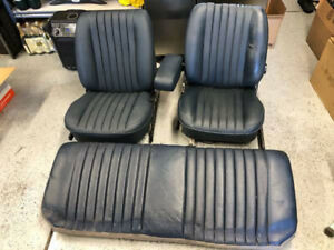 Mercedes benz C107 380 450 Slc Rear Blue Leather Front Seats Rear Bench Seat