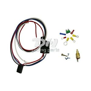 175to185 Electric Engine Fan Thermostat Temperature Relay Switch Sensor Kit 3 8