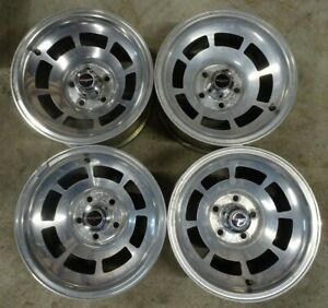Set Of 4 1978 1982 Corvette Western Machined Aluminum Alloy Slotted Wheels 15x8