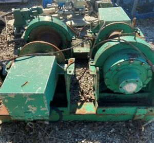 Dp Hydraulic Winch Set On Skid 50 000 Capacity Each