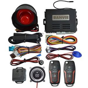 Banvie Pke Car Alarm System With Remote Start And Push To Engine Start Stop