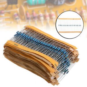 1280pcs 64 Values 1 Ohm 10m Ohm 1 4w Metal Film Resistors Assortment Kit Tool