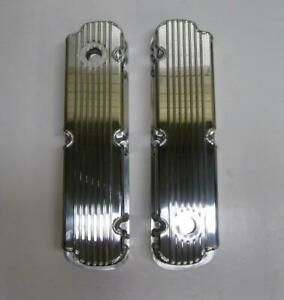 Ford Finned Fabricated Aluminum Tall Valve Covers Sbf 289 302 351w Display Sale