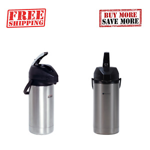 Bunn 3 8 And 3 0 Liter Stainless Steel Lined Airpot Ensures Hot Coffee For Hours