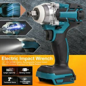 Electric Impact Wrench Gun 1 2 Driver 520nm Torque Impact Wrench Cordless 18v