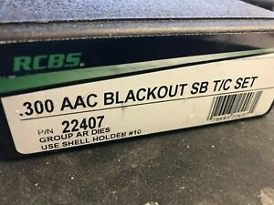 RCBS Small Base AR series 300 AAC BLACKOUT Taper Crimp die set NEW $124.95