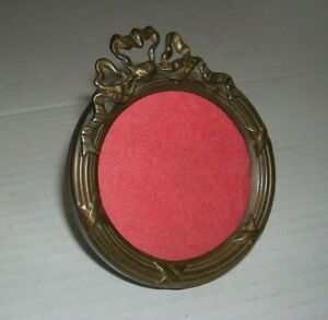 Vintage Brass Ornate Small Picture Frame