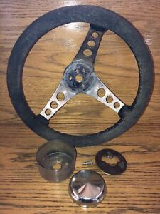 Vintage The 500 Superior Performance Products Steering Wheel Car Race