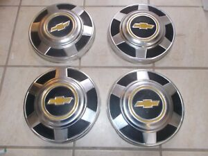 73 87 Chevy Truck 8 Lug Dog Dish Hubcaps Set Of 4 Oem
