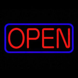 Led Business Advertisement Open Sign Electric Display Store Sign 24 X 12 Inch