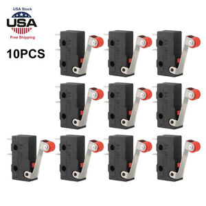 10xdurable Micro Roller Lever Arm Open Close Limit Switch Kw12 3 Pcb Microswitch