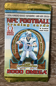 2000 Pacific Omega NFL Football Sealed Unopened Hobby Pack $40.00